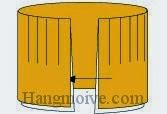 Bước 8: Nhét một đầu miếng giấy vào giữa hai khe giấy đầu kia.