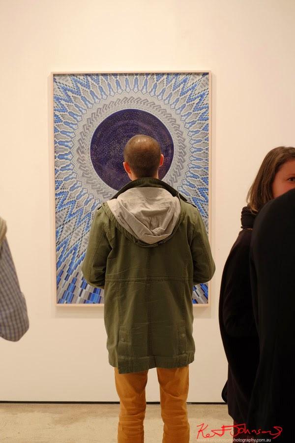 Contemplation - A Pale Blue Dot - Martin Browne Contemporary - Kent Johnson for Street Fashion Sydney.
