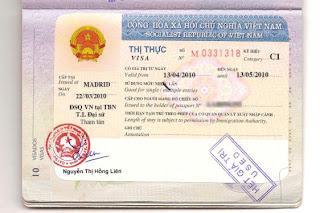 Visa on arrival (Visa on arrival) vietnam