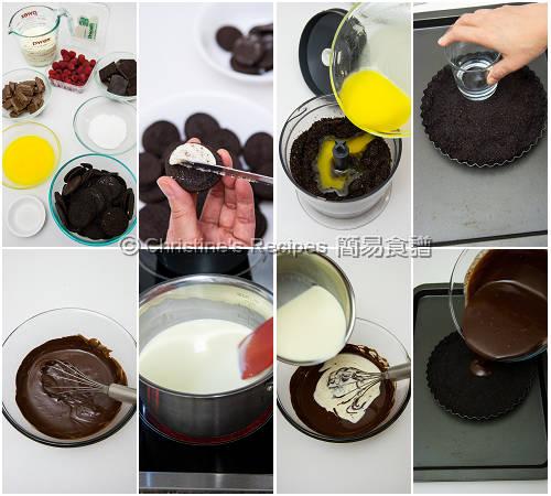 樹莓巧克力塔製作圖 Raspberry and Chocolate Tart Procedures