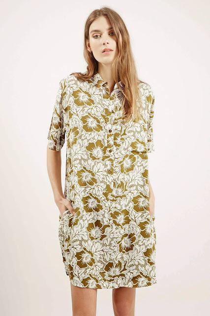 hawaiian shirt dress, green flower shirt dress,