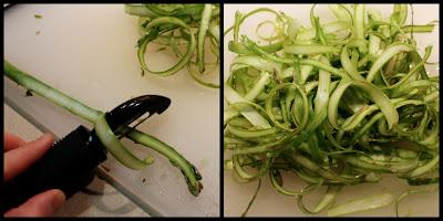Shaving asparagus