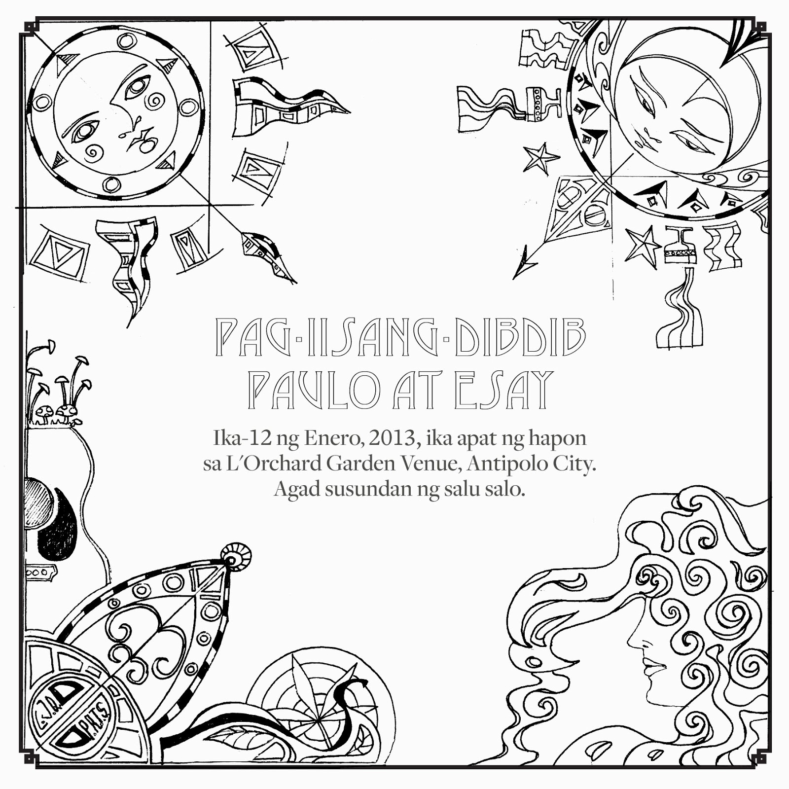 Practical pinay 2013 wedding invitation in filipino tagalog artwork by paulo subido stopboris Image collections