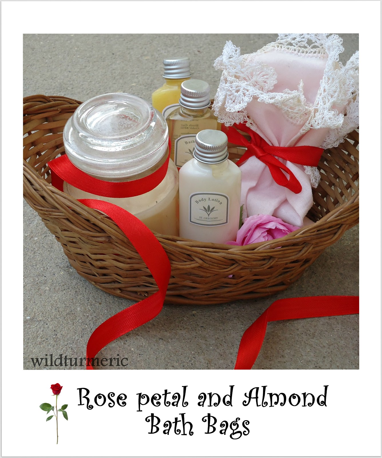 DIY: Rose Petal & Almond Bath Bag