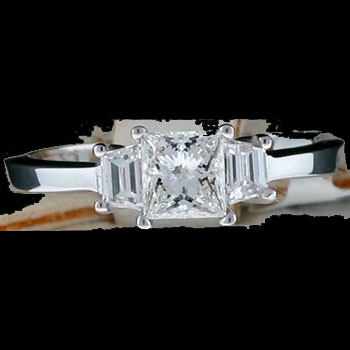 women princess cut wedding rings