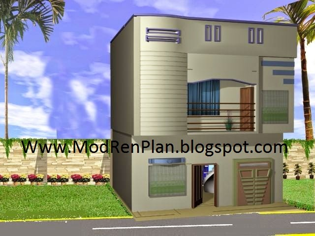 Changing The Front Elevation Of A House : Marla front design