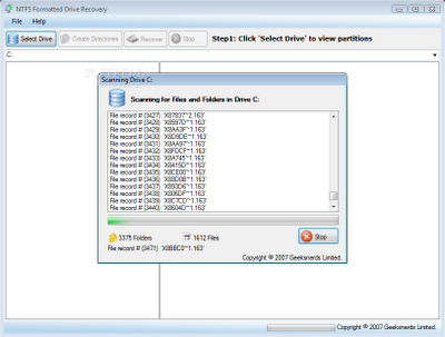 NTFS Formated Drive Recovery | hard disk drive recovery software free