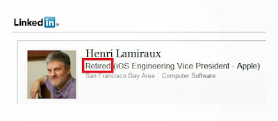 Apple iOS Engineering VP has retired