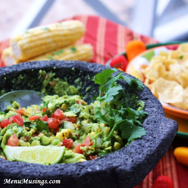 Menu Musings of a Modern American Mom: Fire Roasted Corn Guacamole