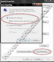 disable error reporting