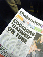 Coughing Banned on Tube by Annie Mole via Flicker and a Creative Commons license