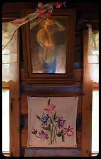 Autoportret w spiskiej chacie. fot. Łukasz Cyrus