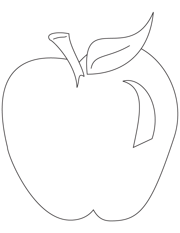 Free Coloring Pages Of An Apple : Apples coloring pages