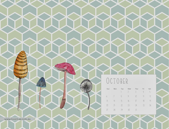 Calendar Wallpaper Love Mae : Desktop calendar october love mae