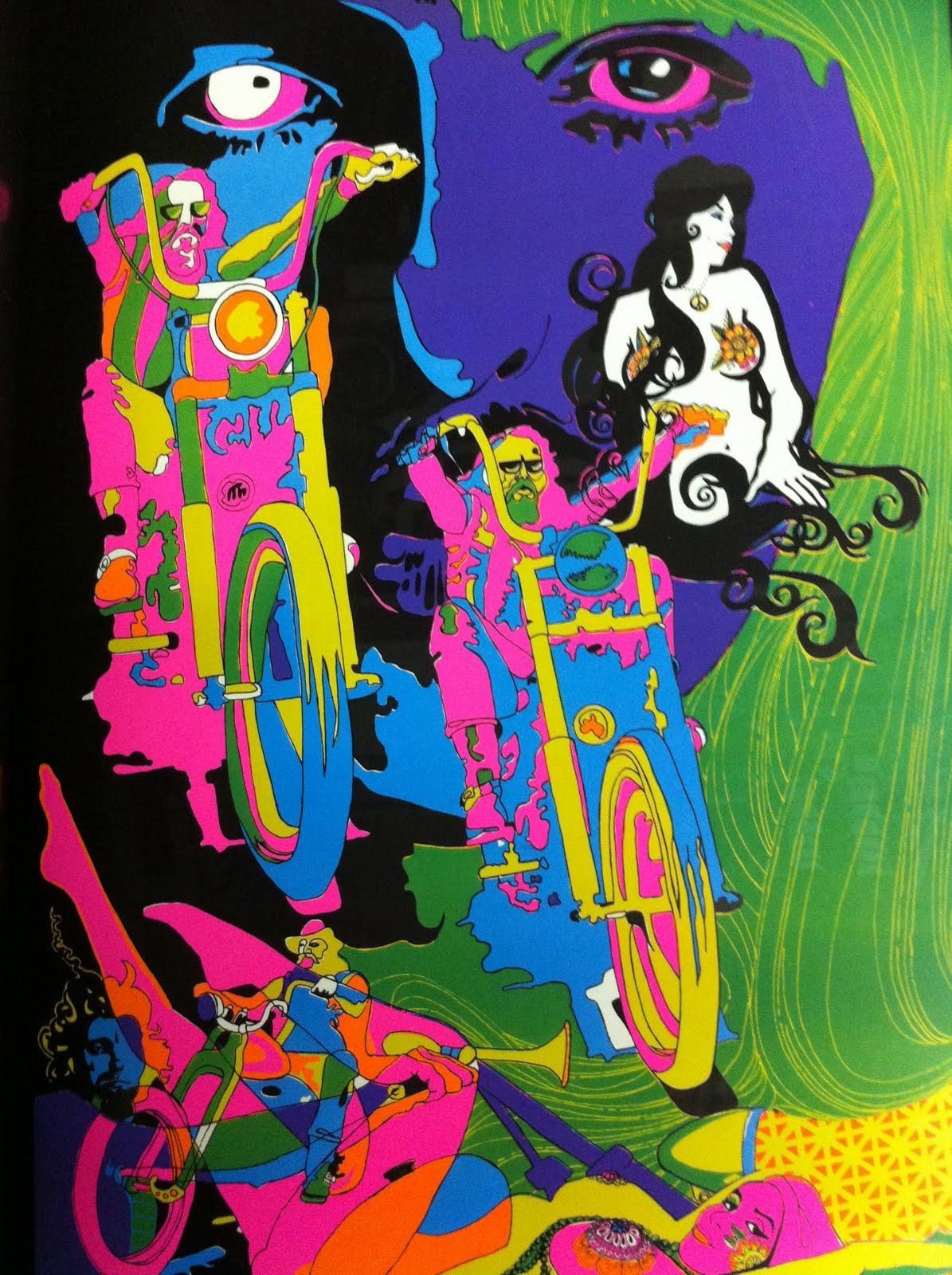 Trippy hippie psychedelic 60s nude gogo girls vs kyuss - 3 3