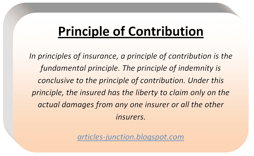 Principle of Contribution