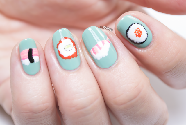 Sushi Nail Art by Katy at Nailed It - www.blognailedit.co