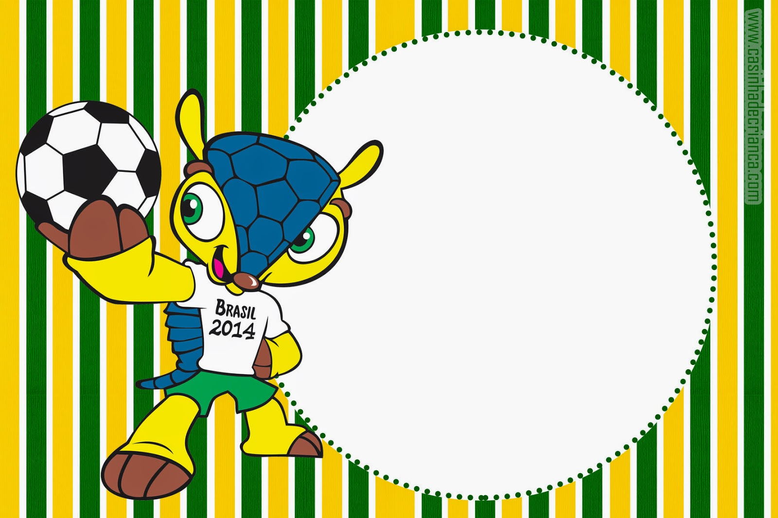 convite Copa 2014 Para Imprimir Grátis