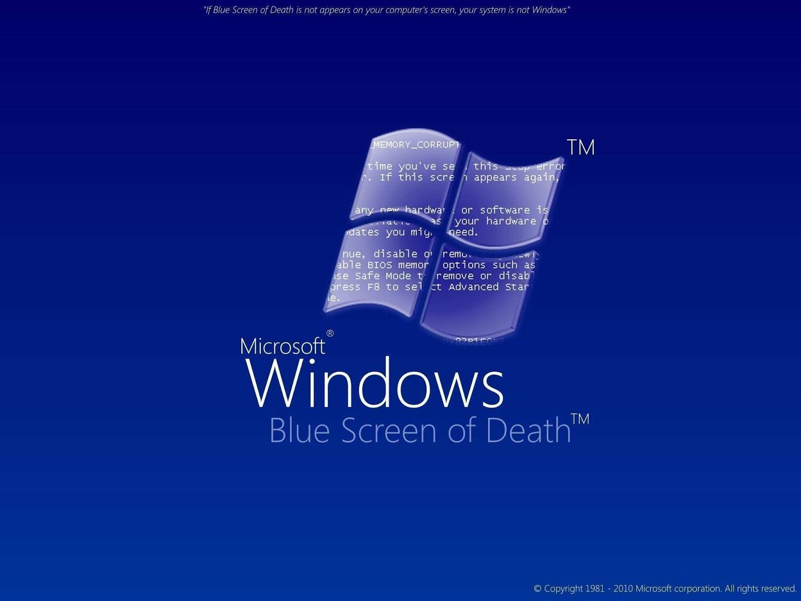 Cara Mengatasi Layar LCD Laptop Blue Screen