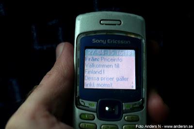 SMS Välkommen till Finland