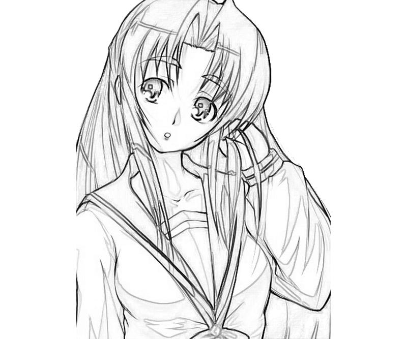 ryouko-asakura-cute-coloring-pages