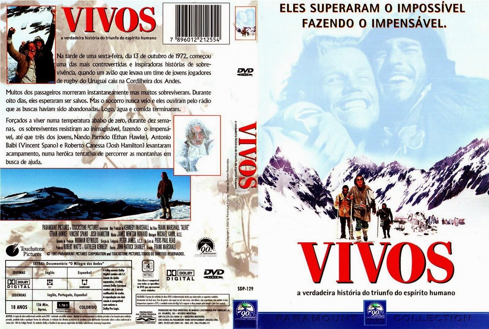 Filme Vivos DVD Capa