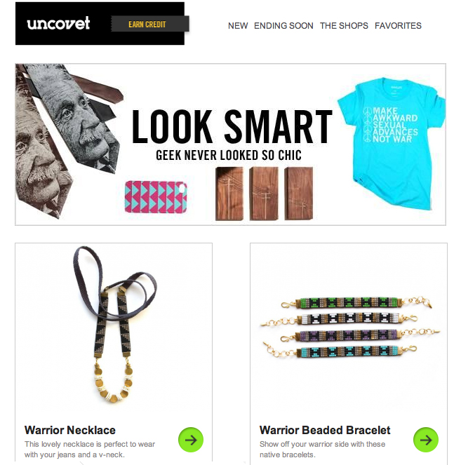 On the Lookout Jewelry on Uncovet.com!