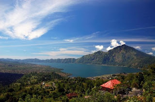 Mount Batur view, holiday in Kintamani, Lake Batur