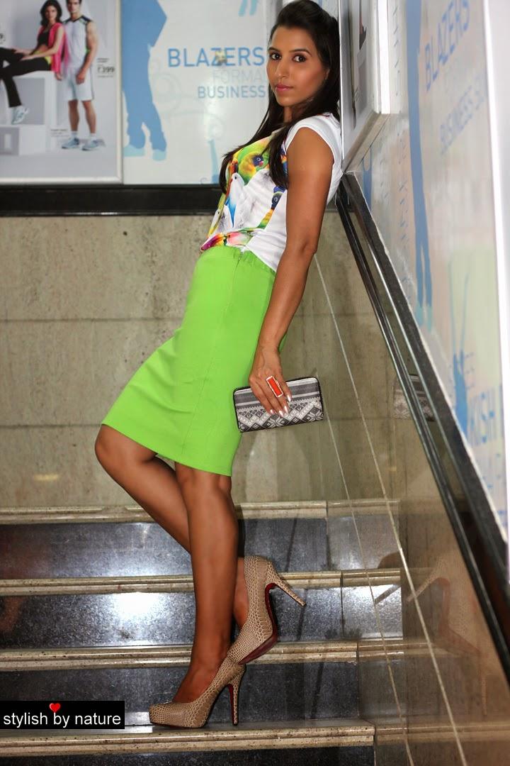 Fluorescent Fashion | Pencil Skirts
