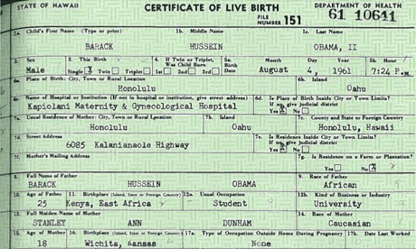 kenyan birth certificate obama. Obama Birth Certificate
