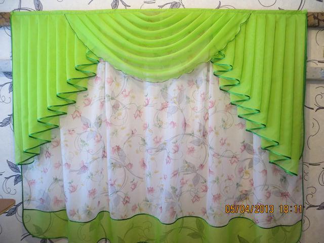 Пошив штор из вуали своими руками для кухни