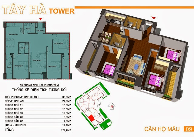 Chung Cư Tây Hà Tower, chung cu tay ha tower, 14