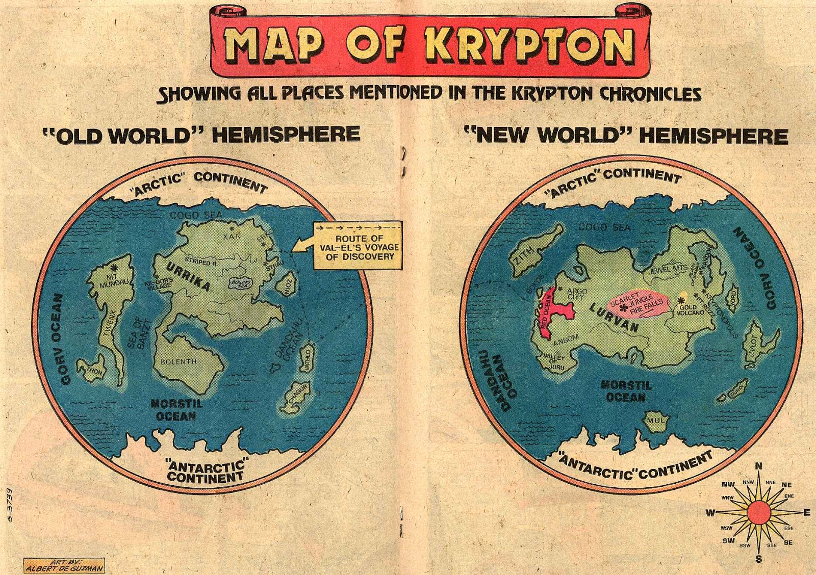 DC Comics of the 1980s: 1981 - Map of Krypton on
