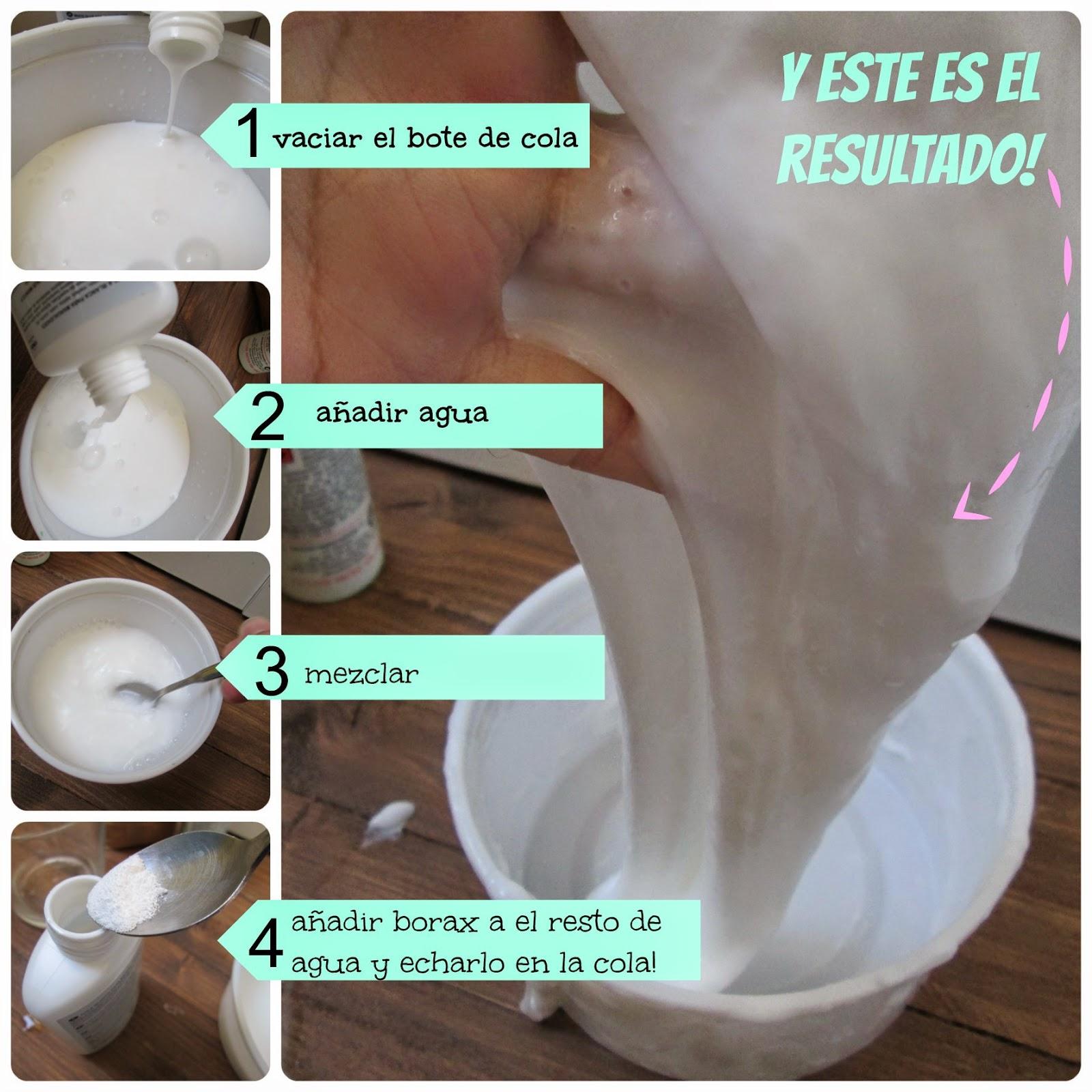 receta hacer slime