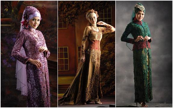 Gambar Kebaya Muslim Terbaru Desain Modern untuk Pesta Penganten