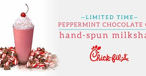News: Chick-fil-A - Peppermint Shake is Back for Holidays | Brand ...