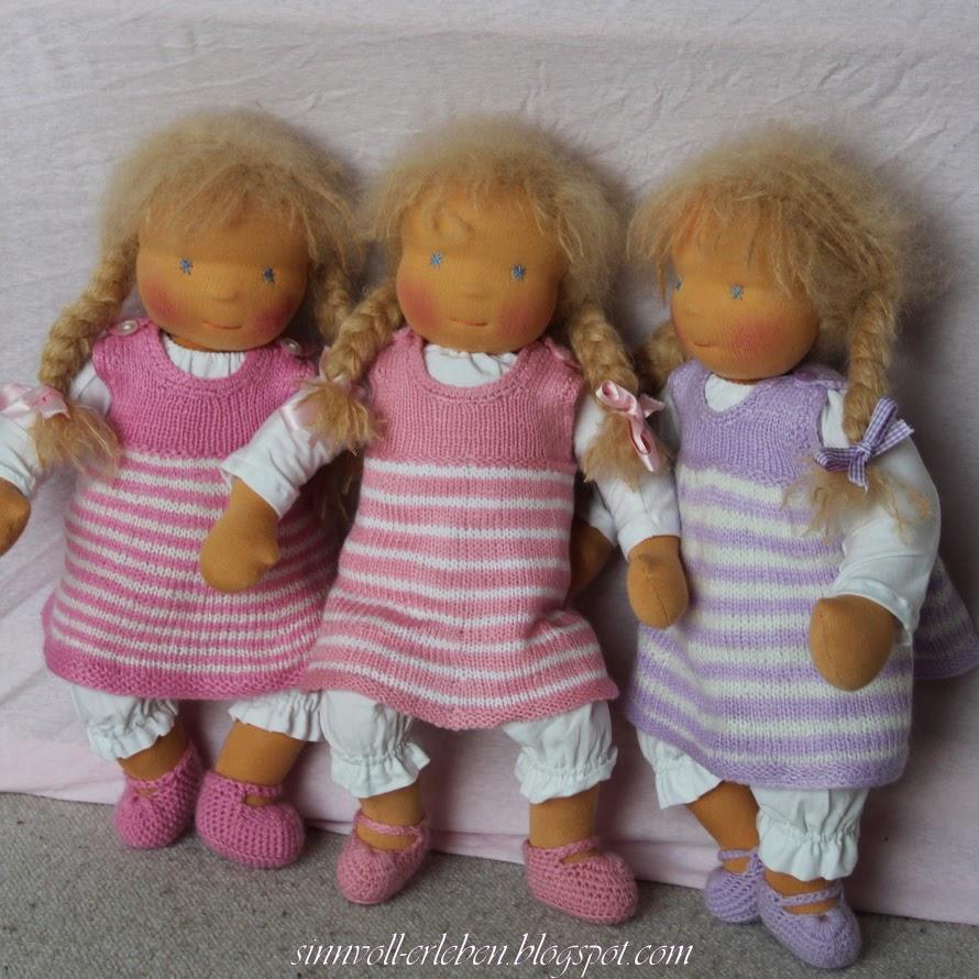Puppen Lucie, Elin und Lenja