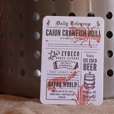 Paper Plates Press Letterpress Design House Crawfish Boil