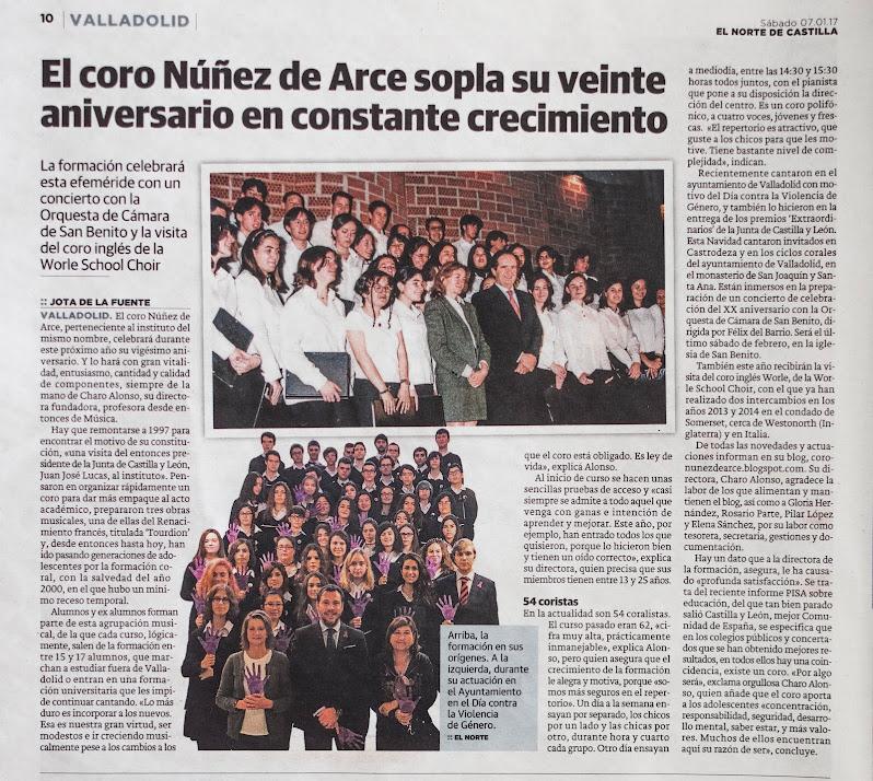 Veinte años del Coro Núñez de Arce