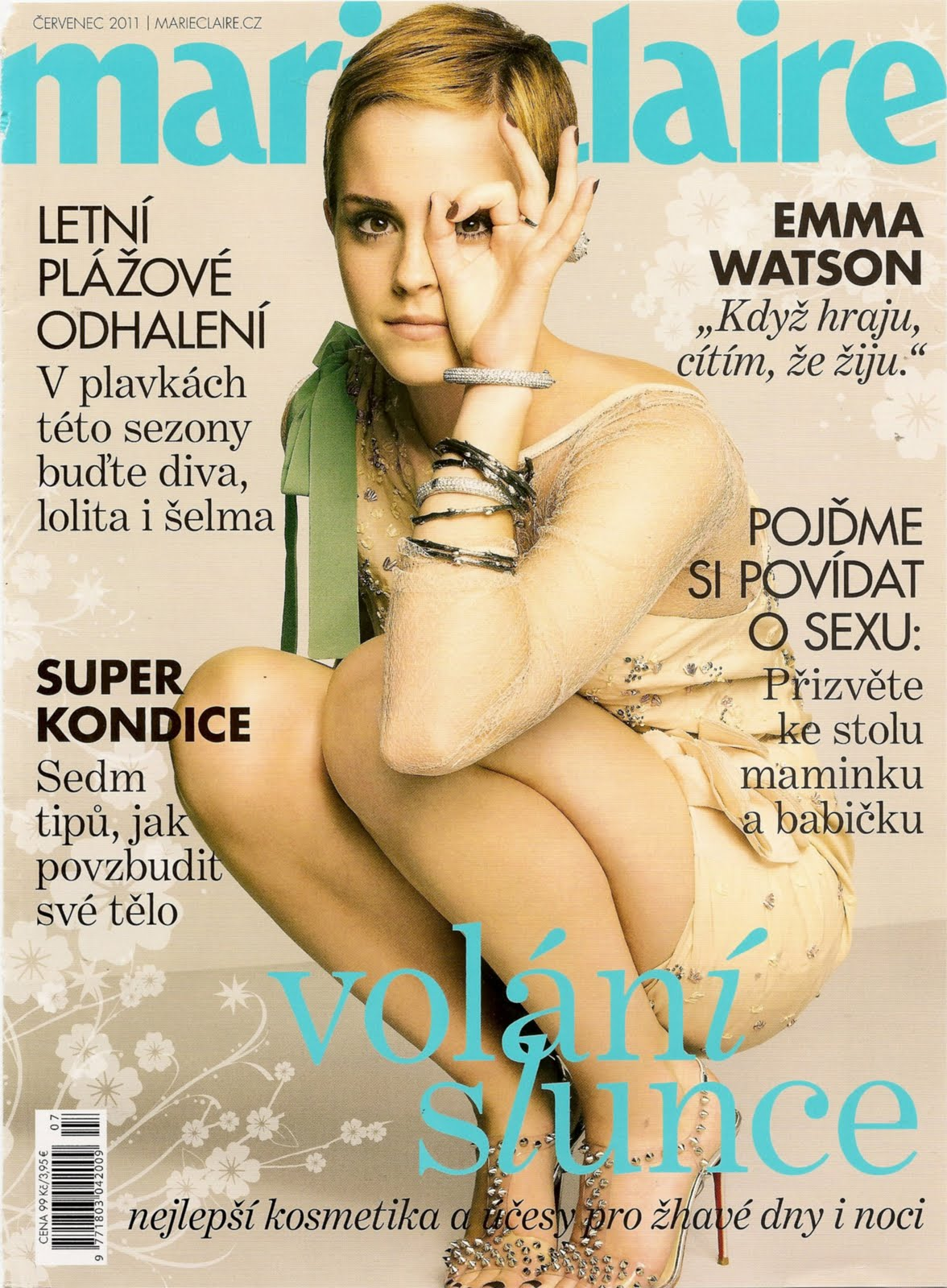 v magazine emma watson marie claire cz magazine july 2011. Black Bedroom Furniture Sets. Home Design Ideas