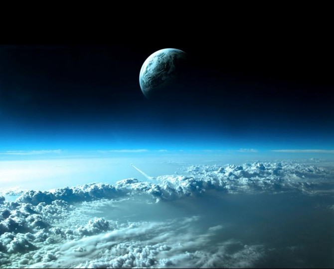 Planet Earth From Space Clouds