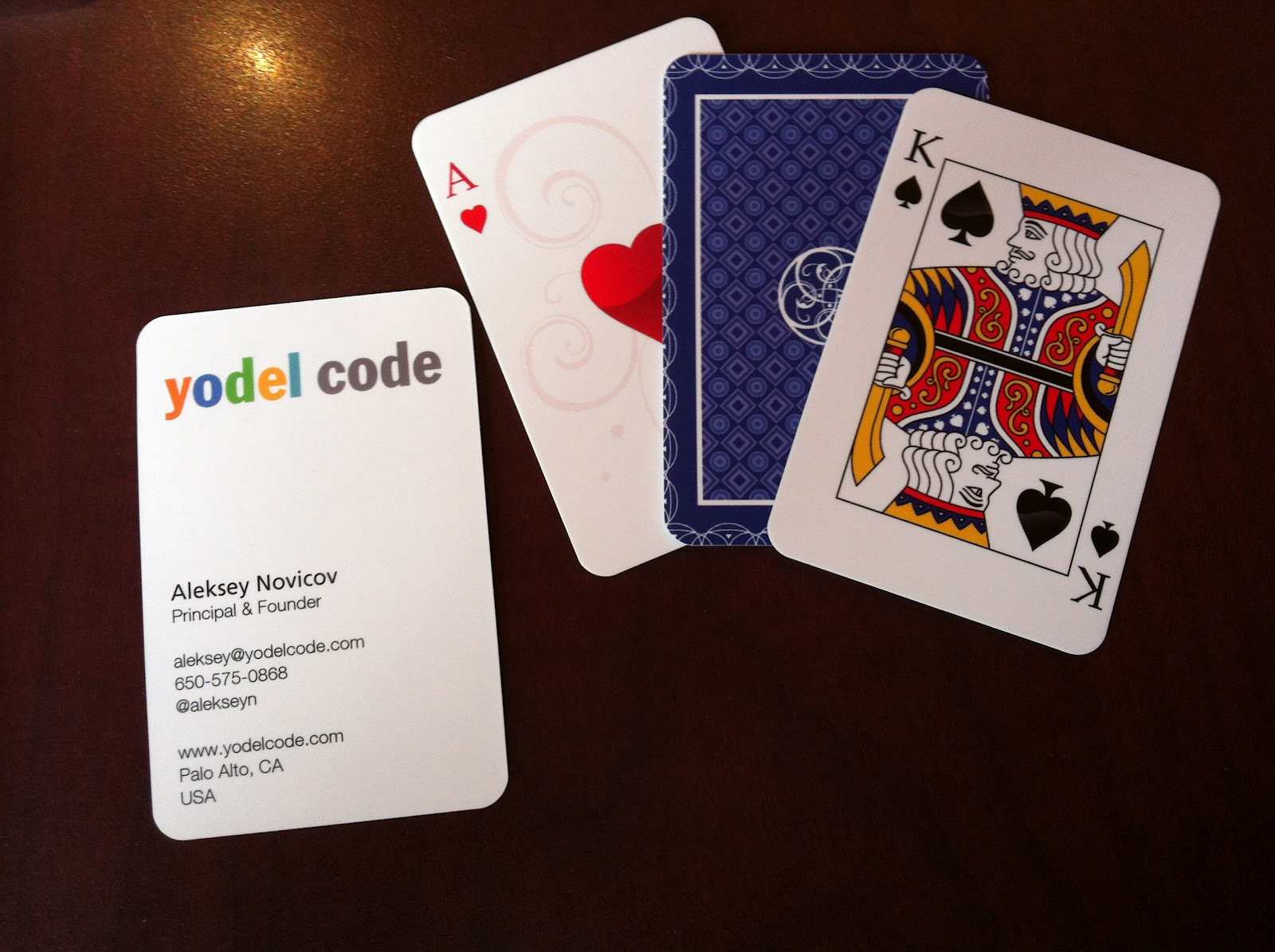 Yodel Code – App Card Game Business Cards | Graphic Designers Delight