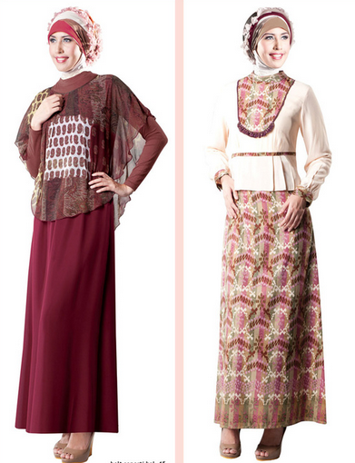 Baju Pesta Muslim Brokat 2015