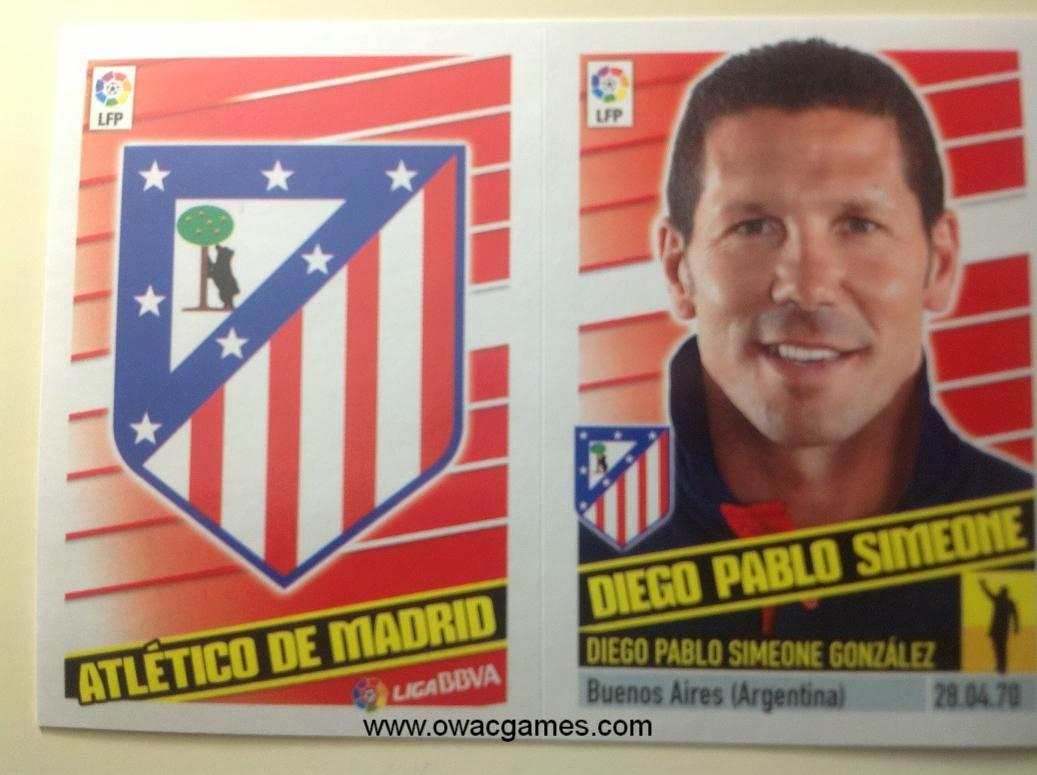 Liga ESTE 2013-14 Atl. de Madrid - Escudo - Entrenador