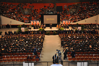 Sam Houston State University graduated its largest class ever, including 332 criminal justice students.