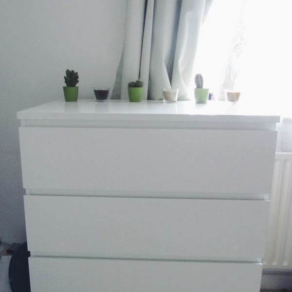 I Ended Up Going To Ikea With A Friend One Friday And Purchased The MALM 4  Chest Of Drawers In White.