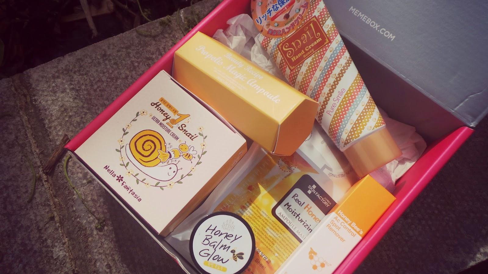 Korean beauty products containing Honey
