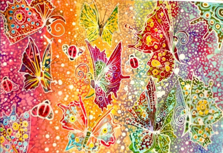 Gambar Batik Pelangi - Batik Indonesia