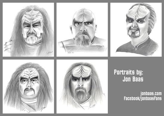 Jon Baas Klingon Portraits