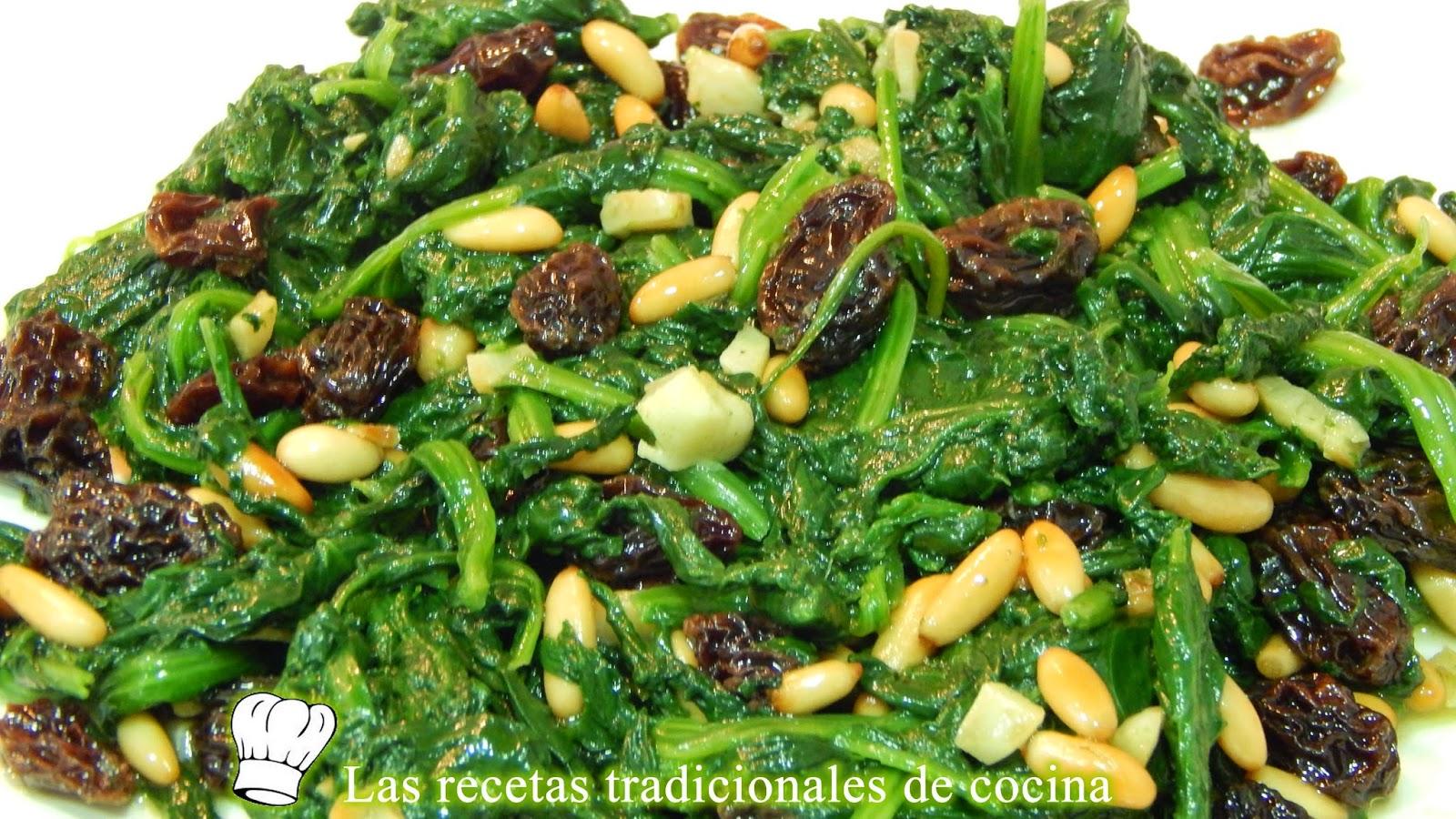 espinacas salteadas a la Catalana